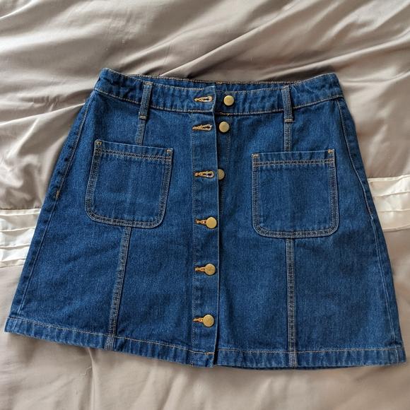 5/$25 Denim skirt front button jean skirt